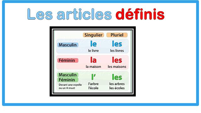 Les articles définis