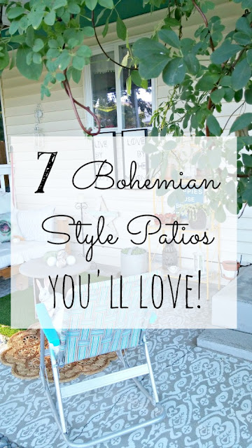 Bohemian style covers so many different looks, check out these 7 patios to fall in love with!