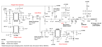 DIY mobile phone jammer circuit schematic