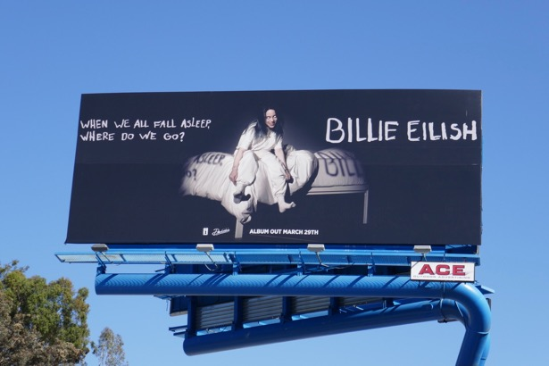 Billie Eilish When We All Fall Asleep Where Do We Go billboard