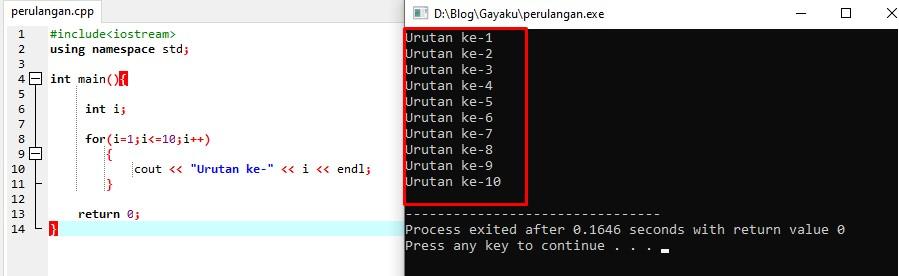 Looping C++