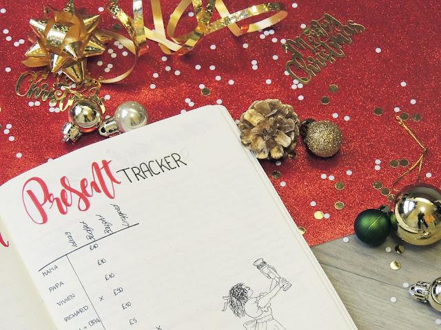 christmas bujo page ideas blogmas glitterisblack