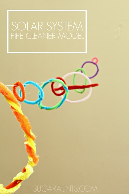 Outer Space Pipe cleaner solar system model