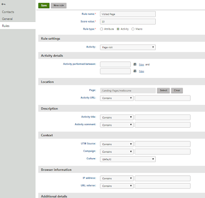 Lead Scoring Kentico Feature
