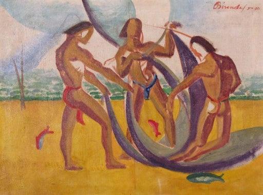 "Biren De 1951 ""Three Fisherman"" -"