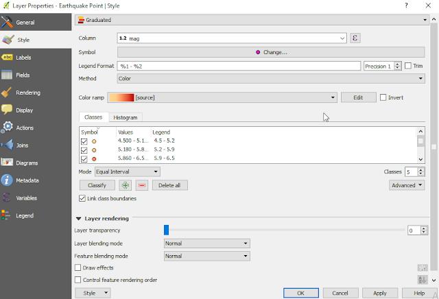 QGIS Layer Properties Window