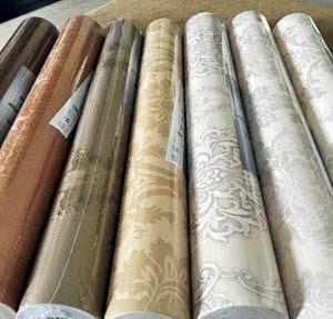 daftar harga wallpaper dinding per roll, per meter, kamar tidur, ruang tamu, murah, hello kitty, di solo, semarang, surabaya, malang.