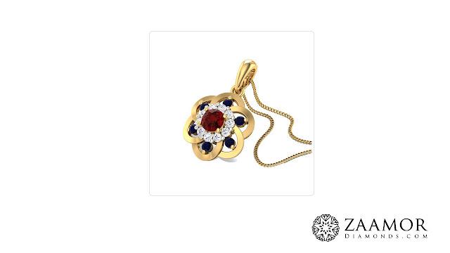 Nereus Floral Sapphire Pendant