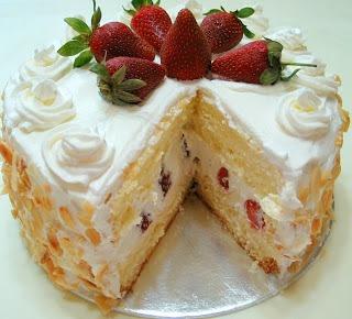 Strawberry Sponge Cake Recipe