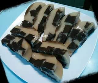 membuat pudding dari brownies