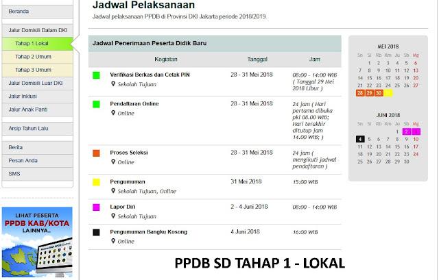 jadwal ppdb online lokal