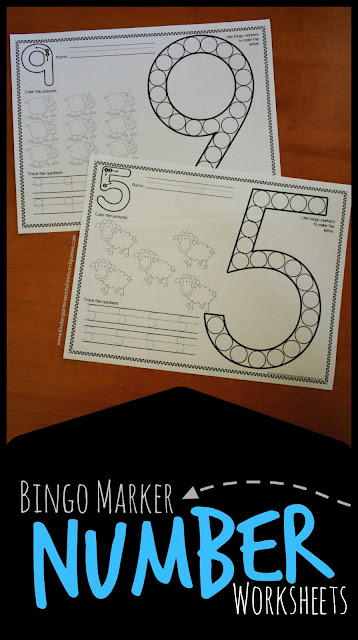 FREE Farm Bingo Marker Numbers Worksheets