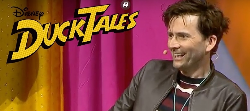 David Tennant at Disneyland Resort to promote DuckTales
