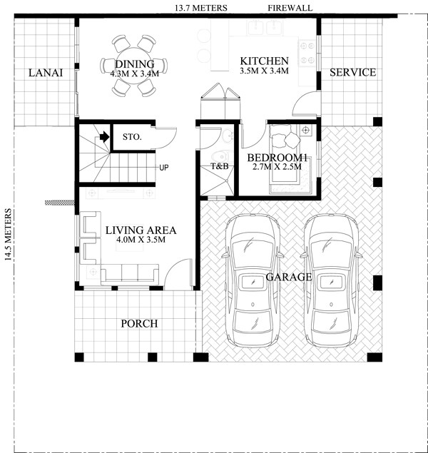 15 Two Storey Modern Houses With Floor Plans on House Design Philippines Also 2 Storey