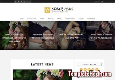 fashion staar mag blogger template premium