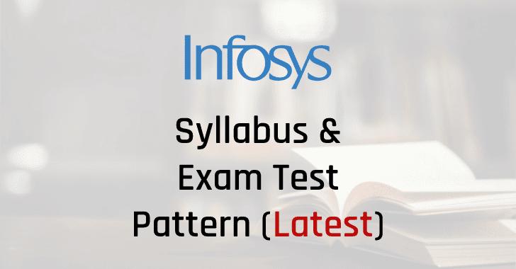 Infosys Syllabus Exam Test Pattern Download PDF
