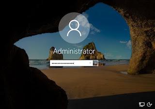 Install Windows Server - Logon Administrator