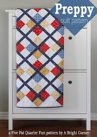 Preppy - a free quilt pattern by A Bright Corner