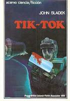 """Portada de """"Tik-Tok"""" de John Sladek"""