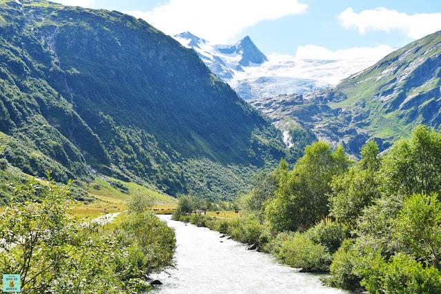 Valle de Gschlösstal en Osttirol, Austria