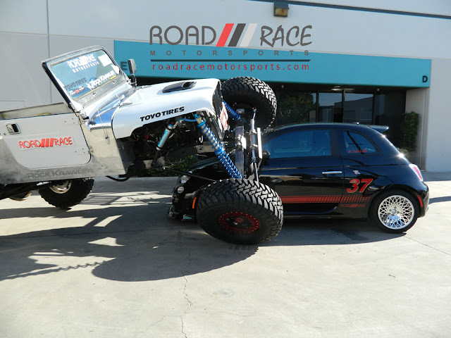Road Race Motorsports King of the Hammers truck flexing on their Fiat 500 Urban Warrior