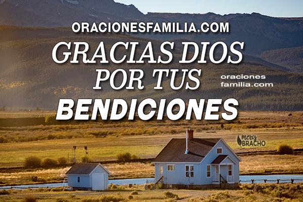 imagen cristiana oracion agradecimiento a Dios por darnos bendiciones Dios nos bendiga mery bracho