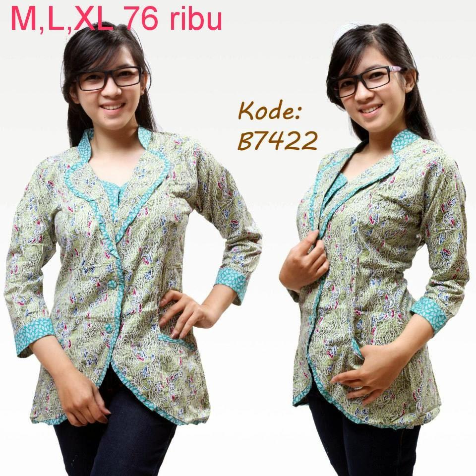 Model Baju Batik Modern Untuk Kerja Wanita: Model Baju Batik Modern Untuk Kerja