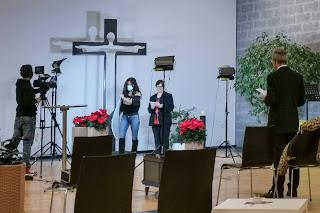 Aufnahmen für den Gottesdienst auf Musig24.tv