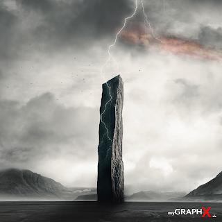 Monolith Dramatic SciFi Landscape