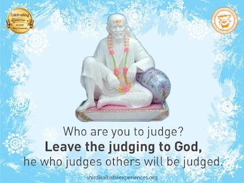 Never Judge - Sai Baba Dwarkamai Posture Image