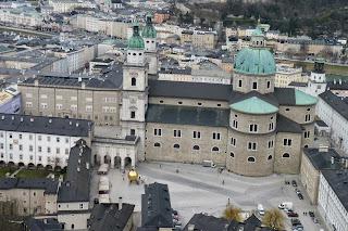 Catedral de Salzburgo vista desde el Castillo.