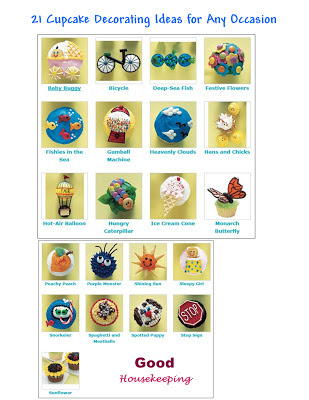 Hodgepodge from The Geranium Farm: 21 Cupcake Decorating Ideas for ... - Decorating Direction With Easy Ideas