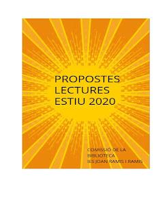 Recomanacions lectures estiu 2020