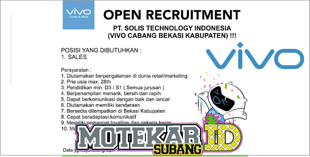 Info Loke Walk Interview VIVO Sales Bekasi
