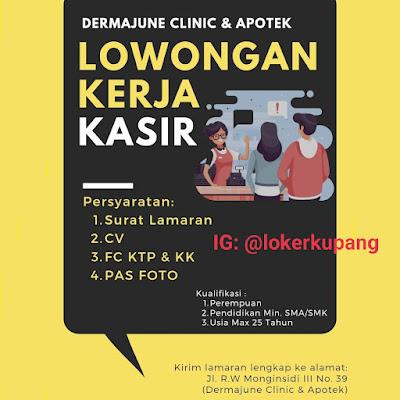 Lowongan Kerja Dermajune Clinic & Apotek Sebagai Kasir