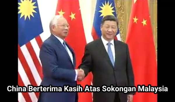 [Video] China Berterima Kasih Atas Sokongan Malaysia