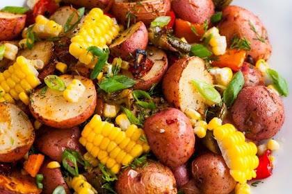 Roasted Potato Vegetable Salad