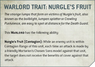 warlord traits Death Guard