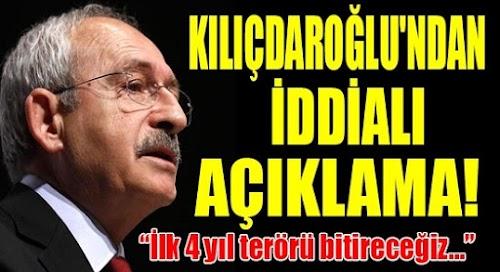 Kılıçdaroğlu'ndan Terörü Bitirme Sözü