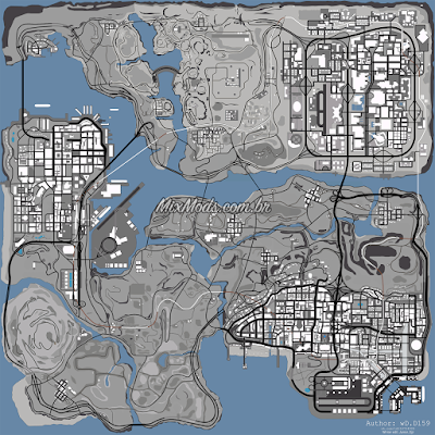 gta sa san mod winter radar snow gray map