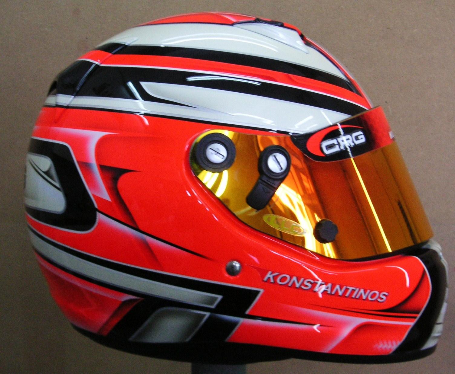 Custom Painted Arai Kart Helmet 130 Hand Painted