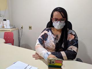 Prefeita Cristiane Varão participou de solenidade virtual que marcou a entrega da reforma do Centro de Ensino Newton Serra de Bom Jardim.