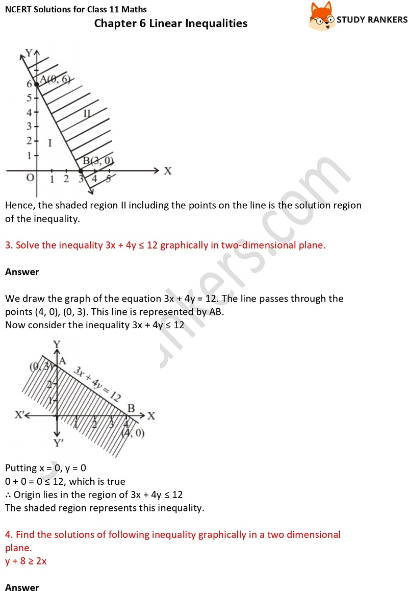 NCERT Solutions for Class 11 Maths Chapter 6 Linear Inequalities 11