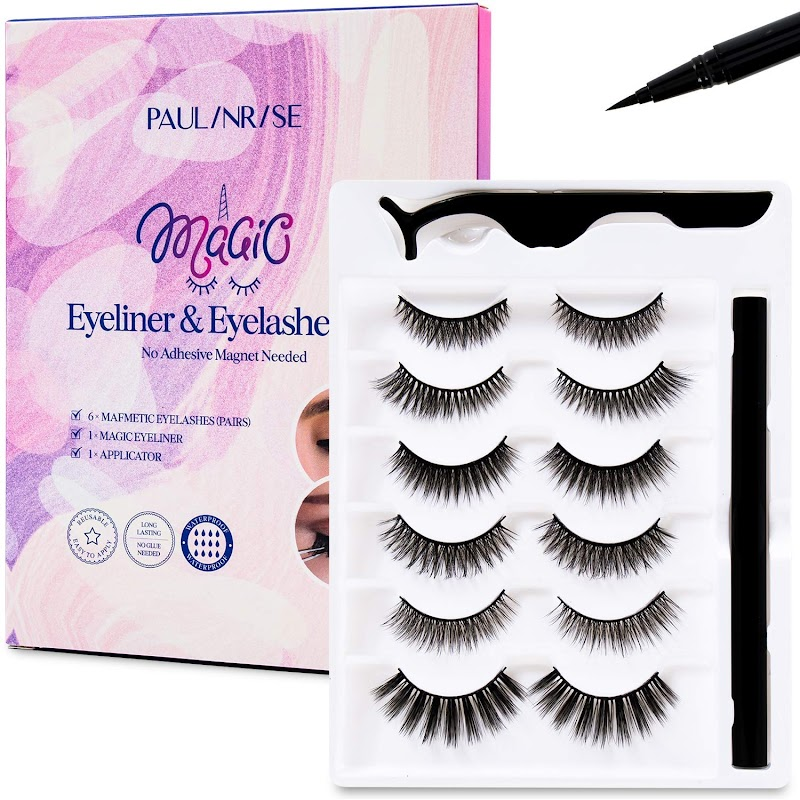 50% OFF Paulinrise Magic Eyeliner and Eyelashes Kit