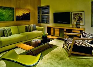 tips warna ruang tamu hijau