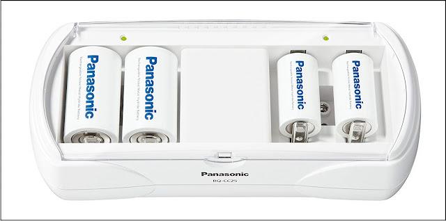 Panasonic BQ-CC25 充電式電池専用充電器 単1形~4形・6P形対応
