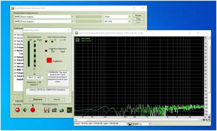 RightMark Audio Analyzer : Αξιολογήστε την επίδοση της κάρτας ήχου