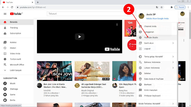 tutorial youtube, mengganti nama channel youtube, youtube channel, youtube, tutorial,