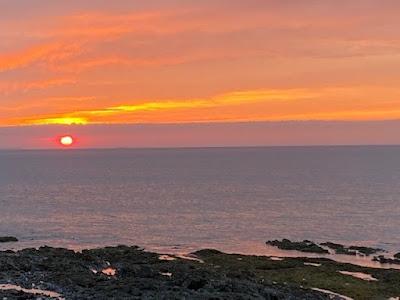 Westward Ho! beach sunset