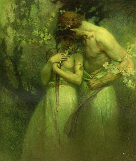 Альфонс Муха - Весенняя ночь. 1910